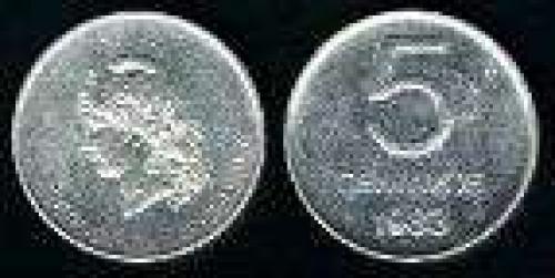 5 Centavos; Year: 1983; (km 88); aluminio;  LIBERTAD