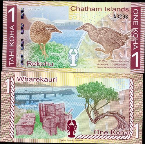CHATHAM ISLANDS 1 KOHA REKOHU 2013 / 2014 POLYMER UNC