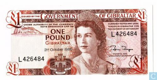 Gibraltar 1 Pound 1986