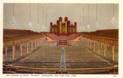 Salt Lake Mormon Tabernacle vintage 1920s postcard