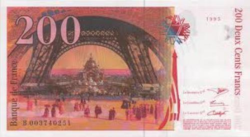 Banknotes; France; 1995‑200‑francs