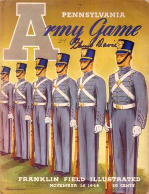 Glenn Davis autographed 1946 Army at Pennsylvania program
