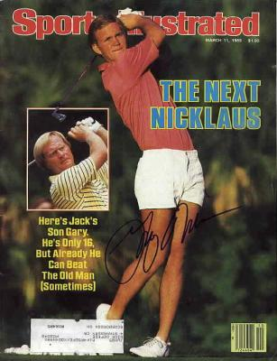 Gary Nicklaus autographed 1985 golf Sports Illustrated