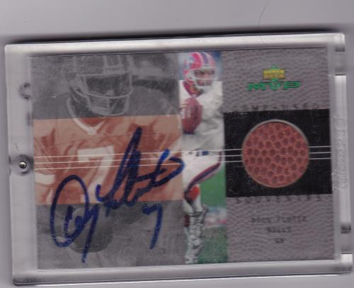 2000 UPPER DECK MVP AUTOGRAPHED PIECE FOOTBALL DOUG FLUTIE