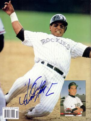 Andres Galarraga autographed Rockies Beckett back cover photo