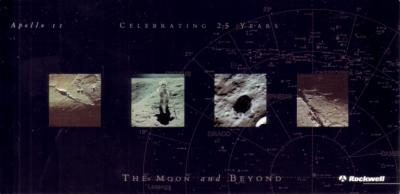 Apollo 11 25th Anniversary 1994 Rockwell postcard