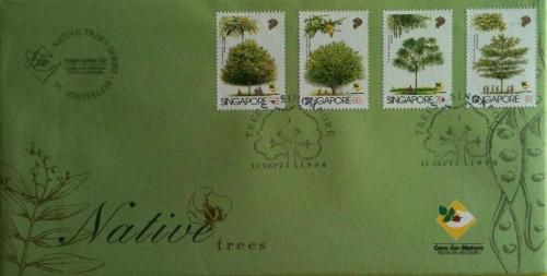 Singapore FDC - Native Trees