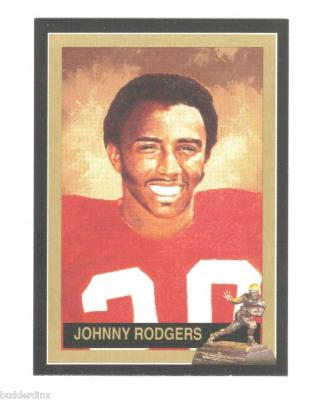 Johnny Rodgers Nebraska Heisman Trophy winner card
