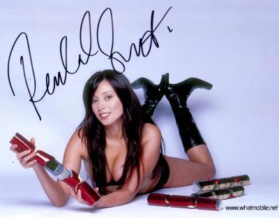 Rachel Grant autographed 8x10 lingerie Whatmobile.net photo