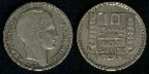 10 francs; Year: 1945-1947; (km 908)