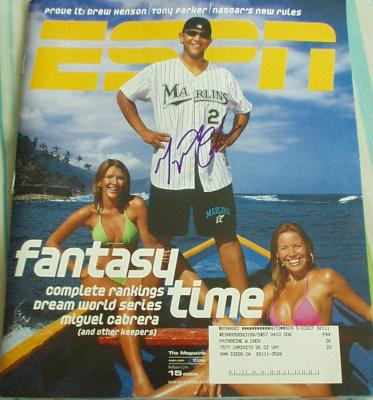 Miguel Cabrera autographed Florida Marlins ESPN Magazine