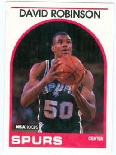 Basketball Card;David Robinson basketball card 1989 NBA ; San Antonio Spurs