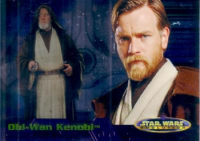 Star Wars Evolution Update 2006 Topps promo card P1 (Obi-Wan Kenobi)