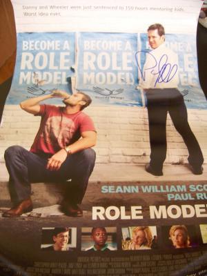 Paul Rudd autographed Role Models mini movie poster