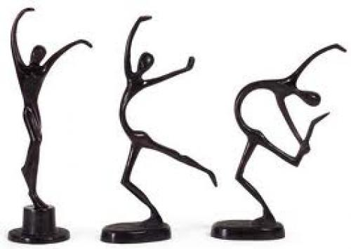 3-decorative-dancing-figurines Characters abound with joyful exuberance