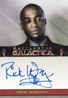 Rick Worthy Battlestar Galactica certified autograph card