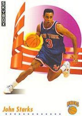 John Starks Knicks 1991-92 SkyBox Rookie Card #194