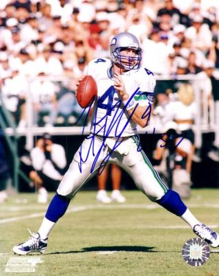 Trent Dilfer autographed Seattle Seahawks 8x10 photo