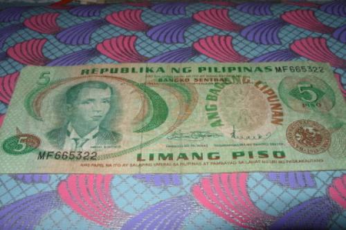 Philippines 5 Piso 1970