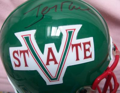 Jerry Rice autographed Mississippi Valley State mini helmet