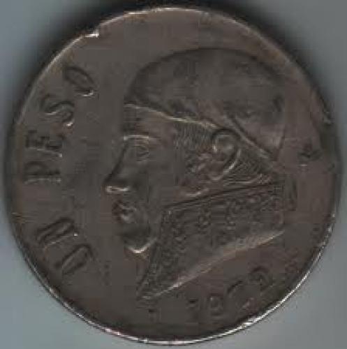 Coins; Mexico 1 Peso 1972