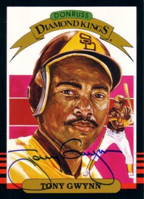 Tony Gwynn autographed San Diego Padres 1985 Donruss jumbo 5x7 Diamond King card