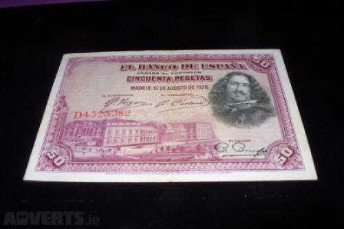 Spain 50 pesetas 1928 RARE!!!
