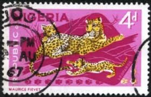 Nigerian Tiger Stamps;  4d
