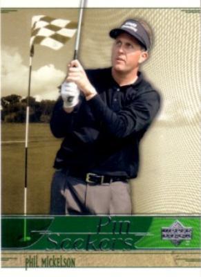 Phil Mickelson 2002 Upper Deck golf Pin Seekers insert card