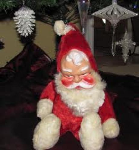 Vintage Santa Claus Stuffed Toy by Gund 1950's