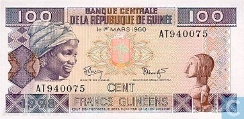 Guinea 100 Francs-1998