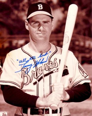 Tommy Holmes autographed 8x10 Boston Braves photo