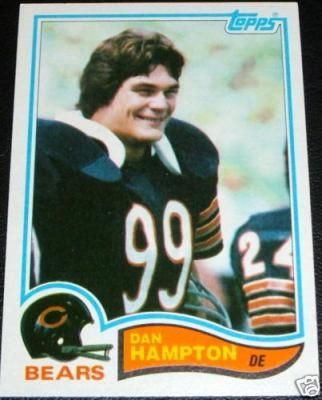 Dan Hampton Bears 1982 Topps card #297