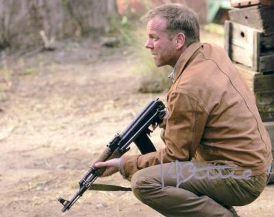 Kiefer Sutherland autographed 24 8x10 Jack Bauer photo