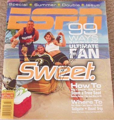 Jason Kidd & Gabrielle Reece autographed 1998 ESPN Magazine