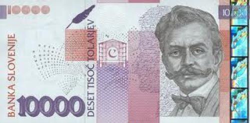 Banknotes; Slovenia 10000 Tolar banknotes