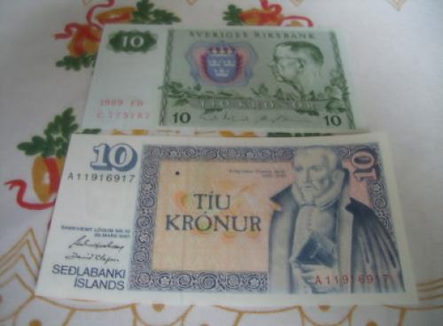 Sweden 10 Kronor/ -Iceland 10 Kronur
