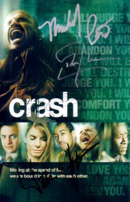Don Cheadle William Fichtner Michael Pena autographed Crash DVD insert
