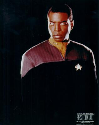 LeVar Burton Star Trek First Contact 8x10 photo