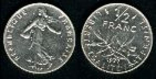 50 centimes; Year 1965-1997; (km 931.1)
