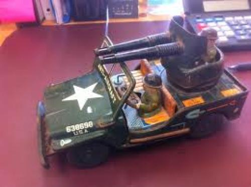Anti-aircraft Military Jeep Toy
