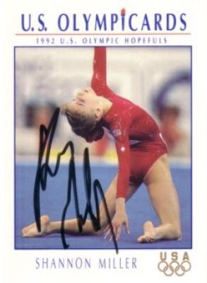 Shannon Miller autographed 1992 U.S. Olympic Hopefuls gymnastics card