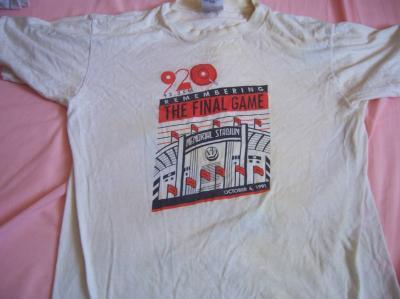 1991 Baltimore Orioles Memorial Stadium Final Game T-shirt