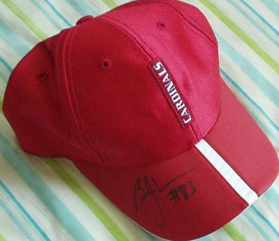 Bryant Johnson autographed Arizona Cardinals Reebok cap