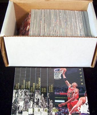 1993-94 Upper Deck SE complete 225 card set (Chris Webber RC)
