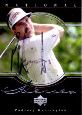 Padraig Harrington autographed 2001 Upper Deck golf card