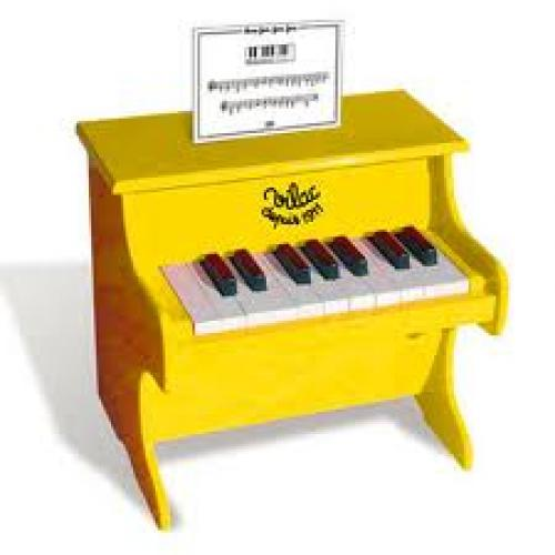Toy piano yellow - toys for boys and girls; 3+ Age
