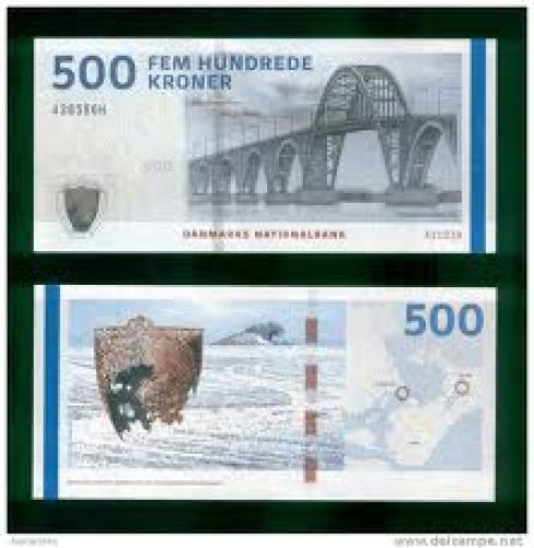 Banknotes: 500 Kroner; Denmark