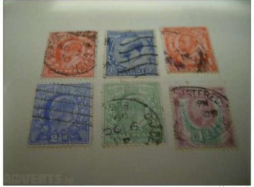 1902-10 - King Edward VII-6 pcs-UK