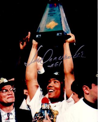 Livan Hernandez autographed Florida Marlins 1997 World Series MVP 8x10 photo